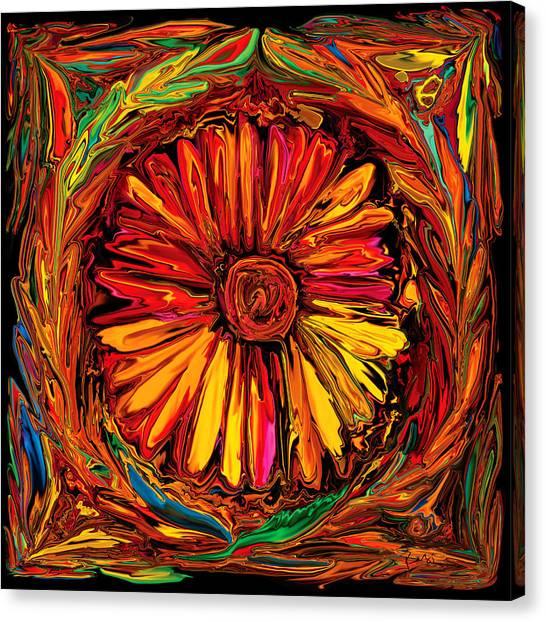 Sunflower Emblem Canvas Print