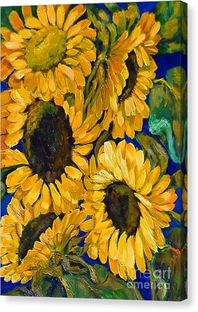 Sunflower Faces Canvas Print