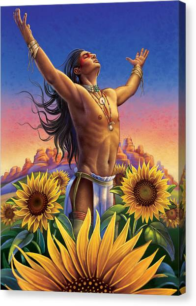 Sunflower - Glorious Success Canvas Print