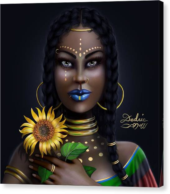 Sunflower Goddess  Canvas Print