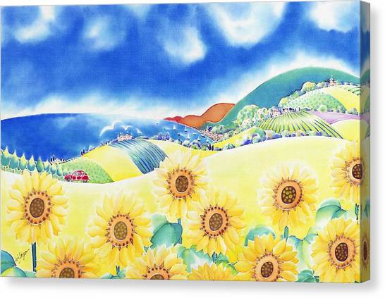 Sunflower Hills Canvas Print