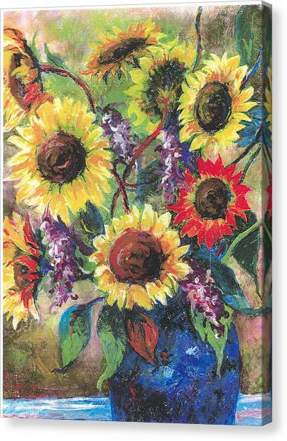 Sunflower Medley Canvas Print by Grace Goodson