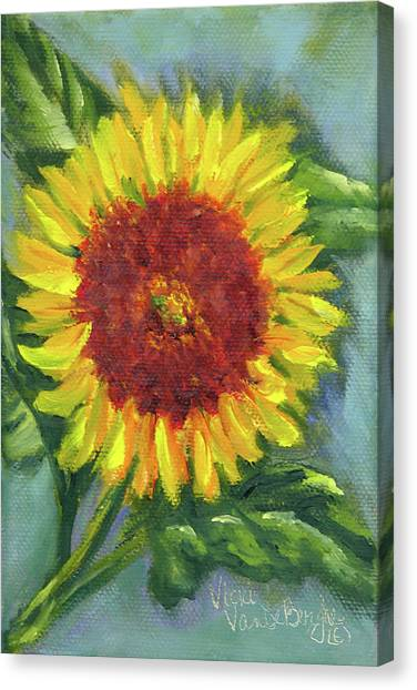 Sunflower Seed Packet Canvas Print