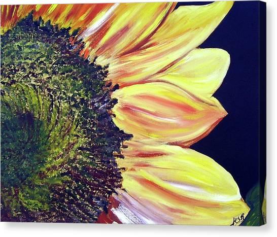 Sunflower Single Canvas Print by Maria Soto Robbins