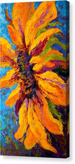 Vineyard Canvas Print - Sunflower Solo II by Marion Rose