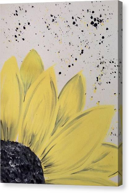 Sunflowers Canvas Print - Sunflower Splatter by Annie Walczyk