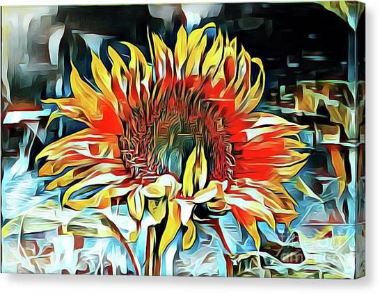 Sunflower 02 ...25.22 Macro Art Printing Canvas Print