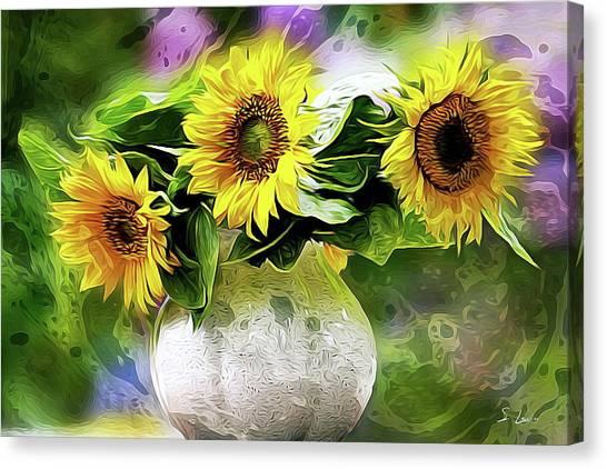 Sunflowers 13...26.16 Yellow Symbolised Happiness Canvas Print
