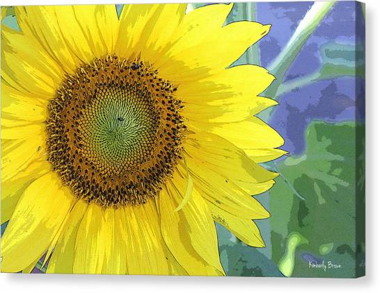 Sunflowers All Around Canvas Print