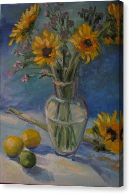 Sunflowers And Citrus Canvas Print