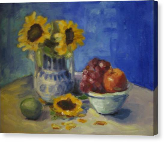 Sunflowers And Fruit Canvas Print