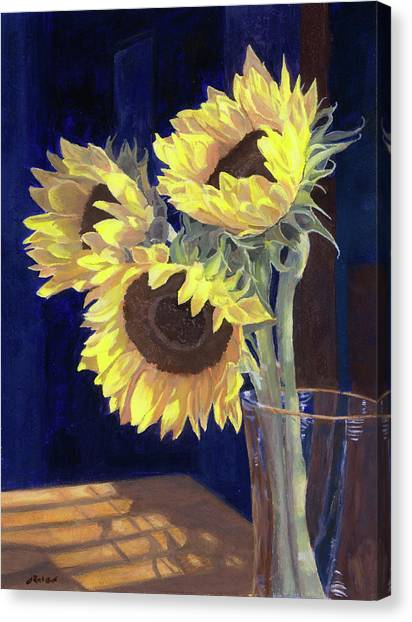 Sunflowers And Light Canvas Print