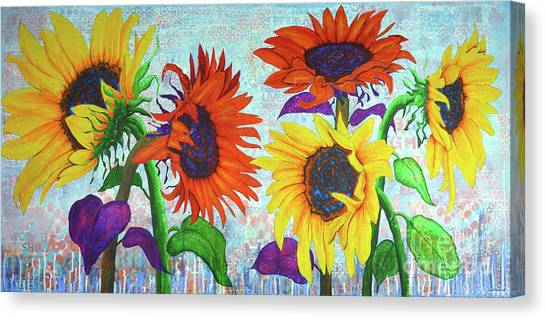 Sunflowers For Elise Canvas Print