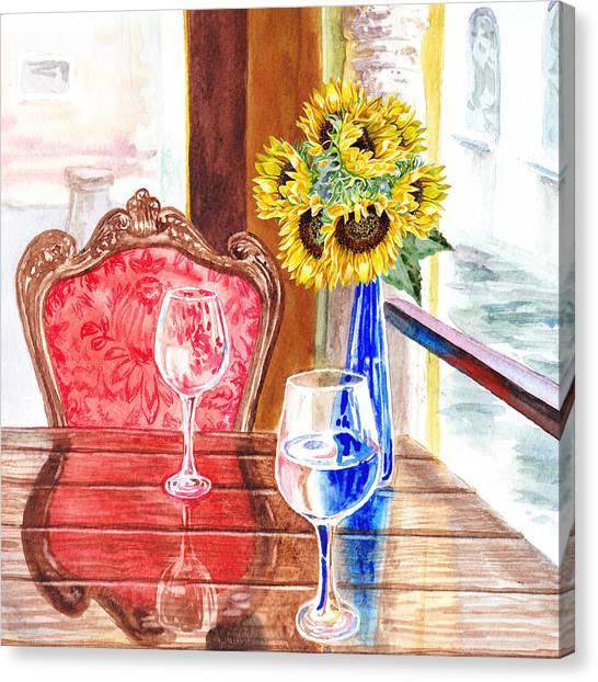 Wedding Bouquet Canvas Print - Sunflowers For Two by Irina Sztukowski