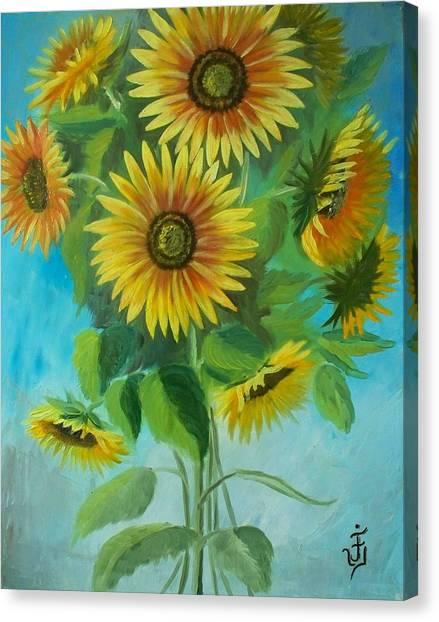 Sunflowers Canvas Print by Jose Velasquez