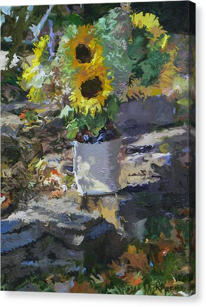 Sunflowers Canvas Print by Kenneth Young