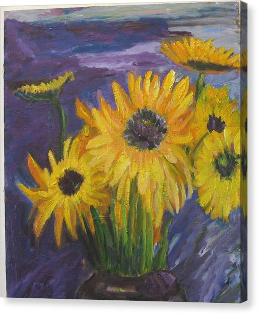 Sunflowers Of My Mind Canvas Print