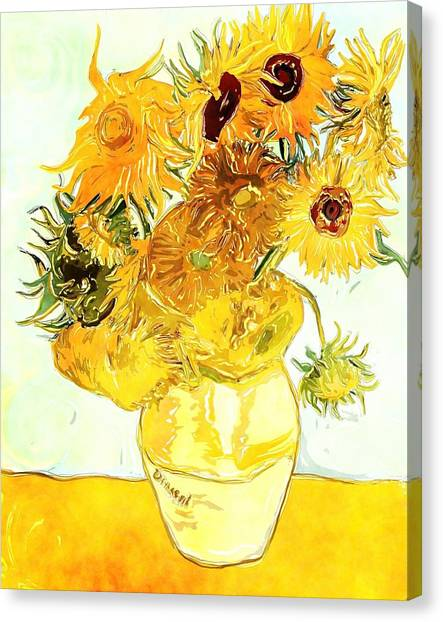 Sunflowers Van Gogh Canvas Print