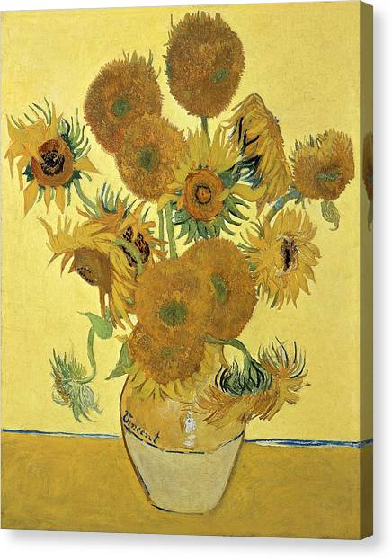 In Bloom Canvas Print - Sunflowers, 1888  by Vincent Van Gogh