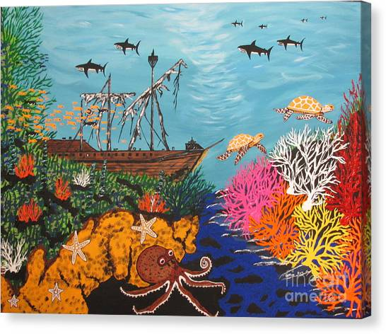 Sunken Treasure Ship Canvas Print