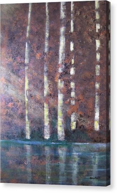 Sunlight And Birch Canvas Print