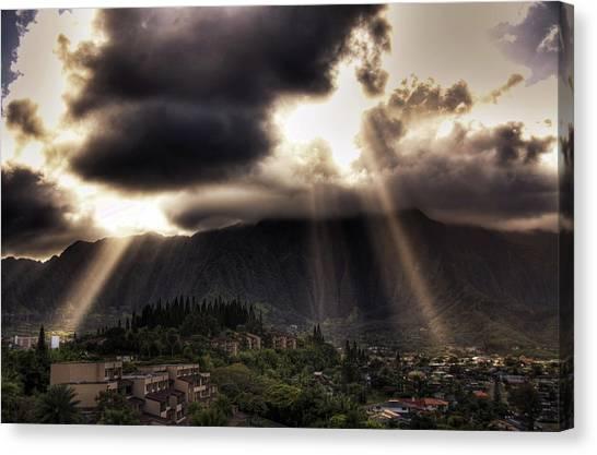 Sunlight Breaking Through The Gloom Canvas Print