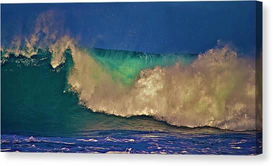 Sunlight On Breaking Wave Canvas Print