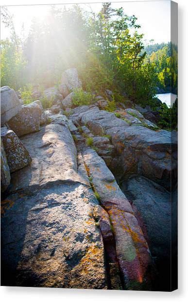 Sunlight On Cove Point Canvas Print