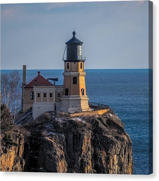 Sunlight On Split Rock Lighthouse Canvas Print