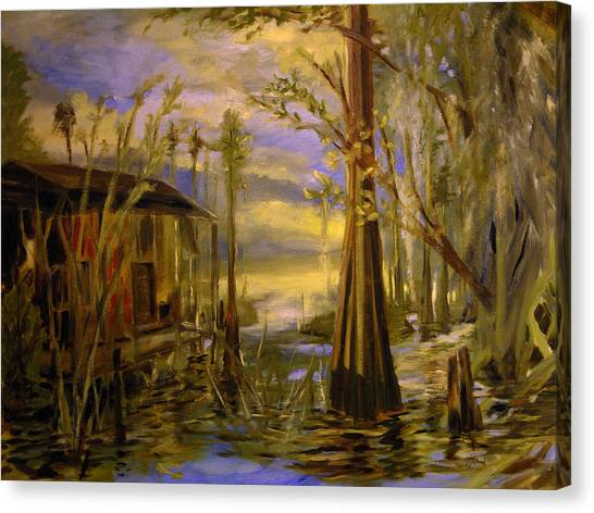 Sunlight On The Swamp Canvas Print