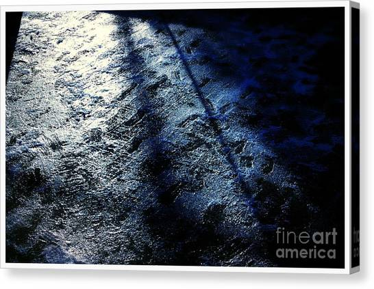 Sunlight Shadows On Ice - Abstract Canvas Print