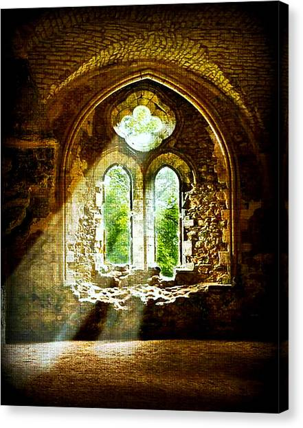 Sunlight Through The Ruins Canvas Print