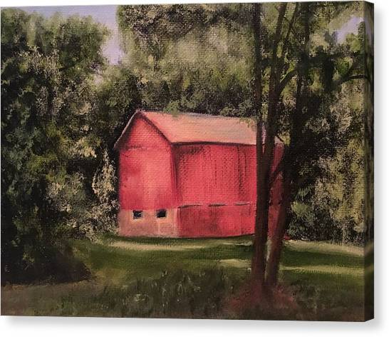 Sunlit Barn Canvas Print