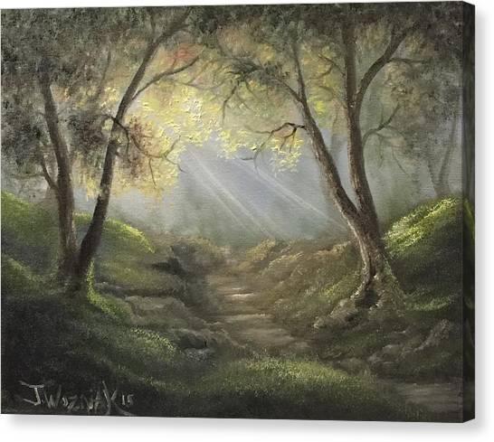 Sunlit Forrest  Canvas Print