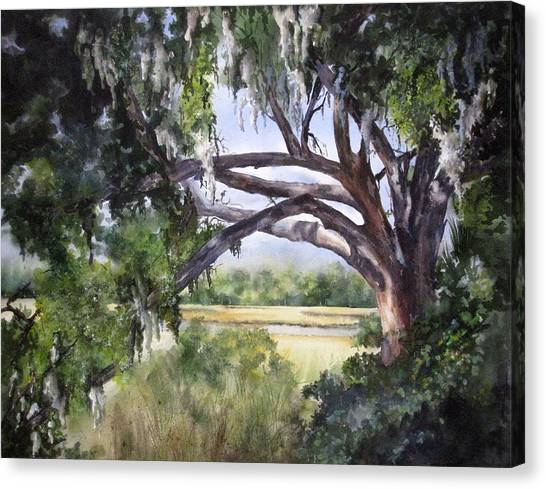 Sunlit Marsh Canvas Print