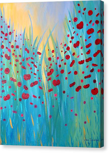 Sunlit Poppies Canvas Print
