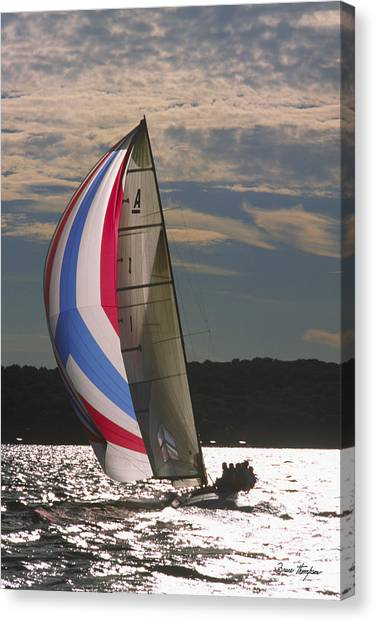 Sunlit Sails - Lake Geneva Wisconsin Canvas Print