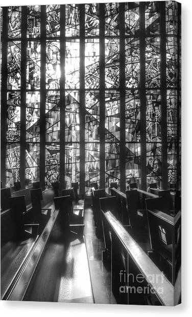 Sunlit Stained Glass At Czestochowa Shrine, Pa Canvas Print