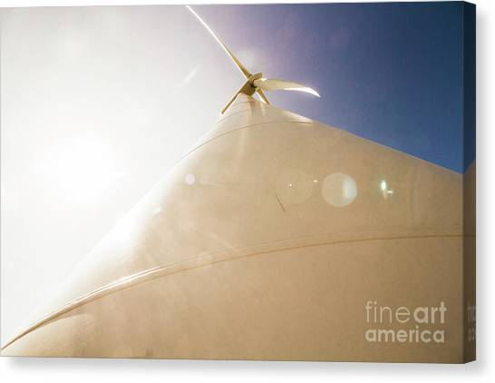 Wind Farms Canvas Print - Sunlit Wind Power by Jorgo Photography - Wall Art Gallery