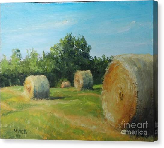 Sunner Harvest Canvas Print by Mike Yazel
