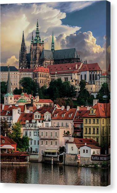Sunny Afternoon In Prague Canvas Print