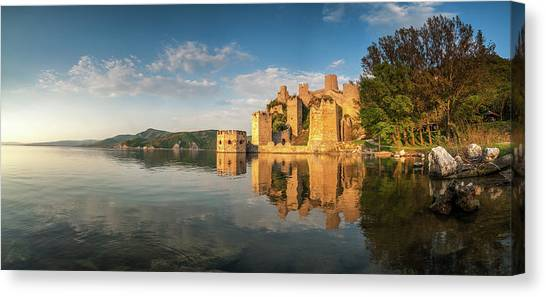 Danube Canvas Print - Sunny Afternoon On Golubac Fortress by Davorin Mance
