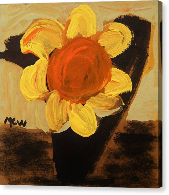 Sunny And Black Canvas Print