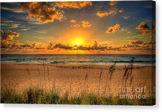 Sunny Beach To Warm Your Heart Canvas Print