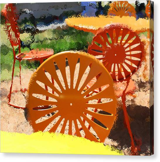 Sunny Chairs 5 Canvas Print by Geoff Strehlow