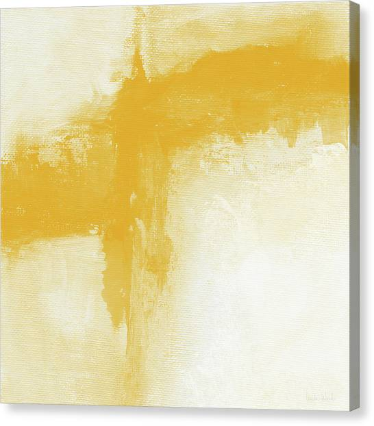 Mustard Canvas Print - Sunny Day- Abstract Art By Linda Woods by Linda Woods