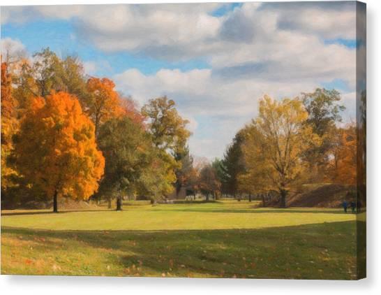 Ohio Canvas Print - Sunny Day In Autumn by Tom Mc Nemar