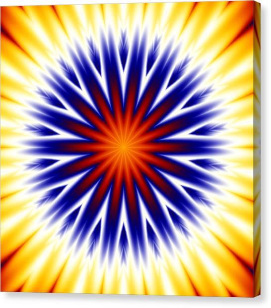 Sunny Fractal Tie Dye Canvas Print