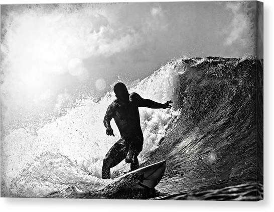 Sunny Garcia In Black And White Canvas Print