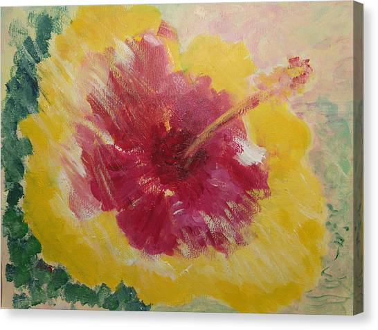Sunny Hibiscus Canvas Print by Adrian Simpson
